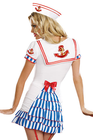 White and Blue Sailor Pinup