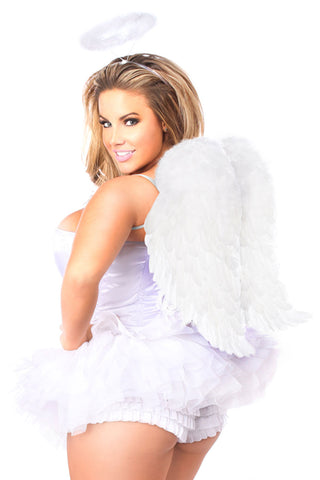 Lavish Premium Flirty Angel Corset Costume