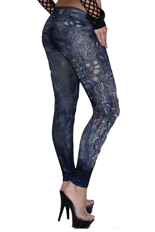 Punk Floral Leggings