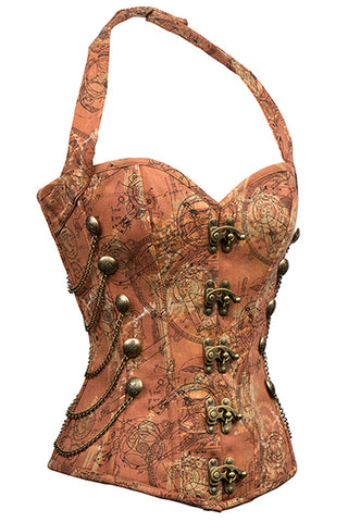 Dreams of Steam Steel Boned Halter Corset