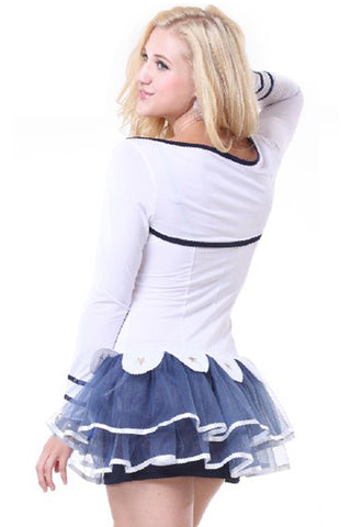 Navy Blue and White Sailor Suit