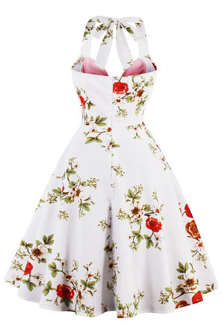 Atomic Vintage Floral Halter Pinup Dress
