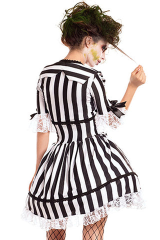 Black and White Beetlejuice Inspired Dress