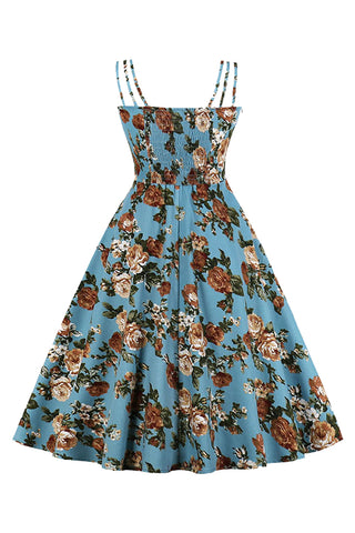Blue Vintage Summer Garden Dress