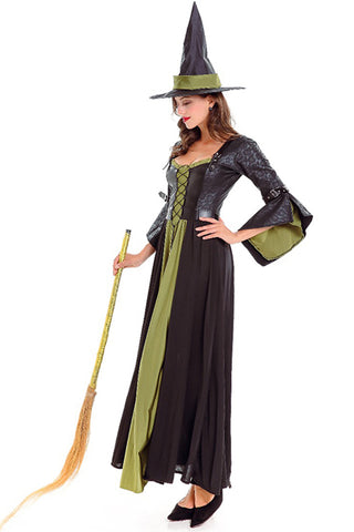 Black and Green Classic Witch Costume