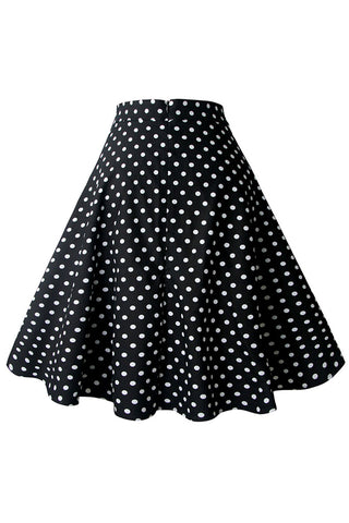 Black Polka Dot Rockabilly Skirt
