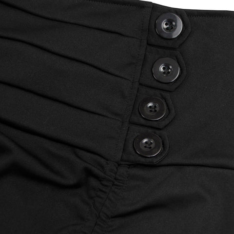 Atomic Gothic High-Waisted Buttoned Skirt