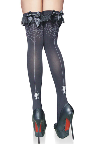 Spider Web Thigh Highs Stockings