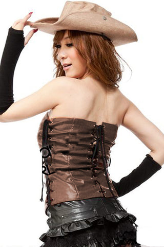 Brown and Black Cowgirl Costume