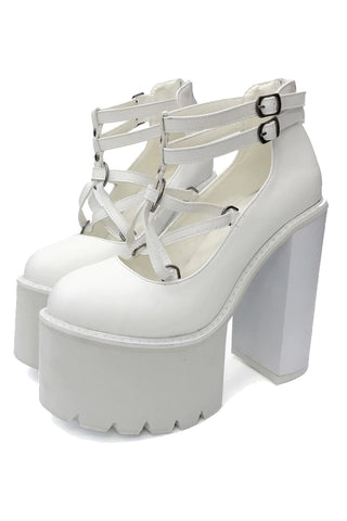 Gothic Star Strapped Platform Shoes