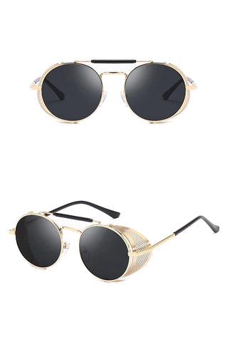 Retro Round Steampunk Sunglasses