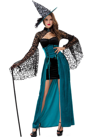 Emerald Wicked Enchantress Witch Costume