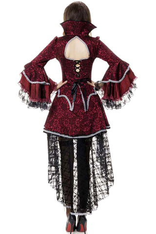 Victorian Red and Black Vampire Costume