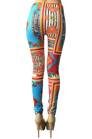 Urban Landscape Printed Leggings