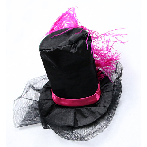 Atomic Pink and Black Burlesque Costume