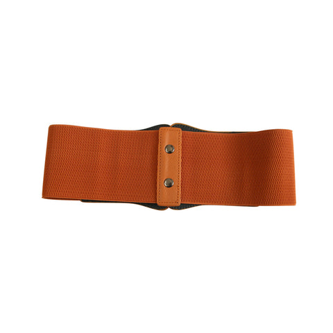 Atomic Brown Leather Waistband Corset Belt