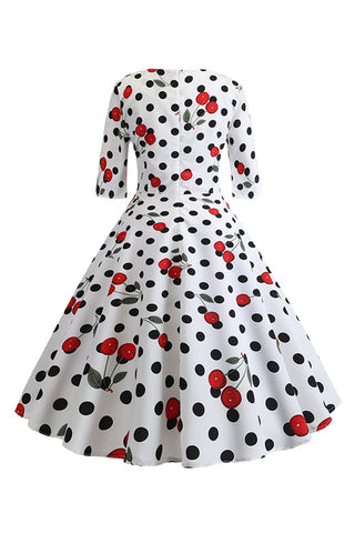 Cherries and Polka Dots Midi Dress