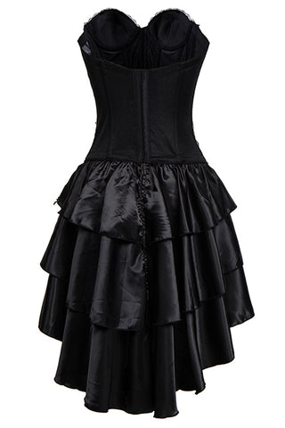 Black Kimikal Skull Corset Dress
