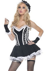 Black Assiduous French Maid Costume
