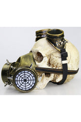 Golden Steampunk Gas Defense Mask