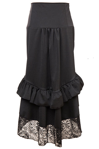 Gothic High-Waisted Buttoned Skirt