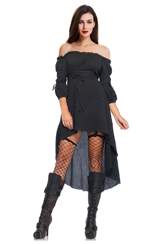 Gothic Vampire High-Low Dress