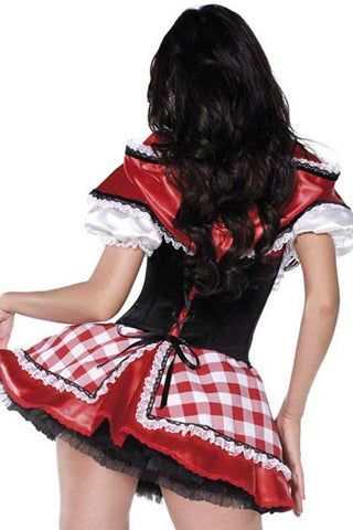 Gingham Red Riding Hood Inspired Costume