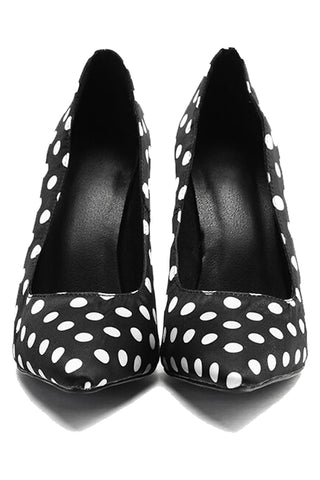Pointed Polka Dot High Heels