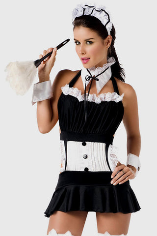Black French Kiss Maid Costume