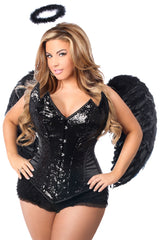 Black Angel Corset Costume