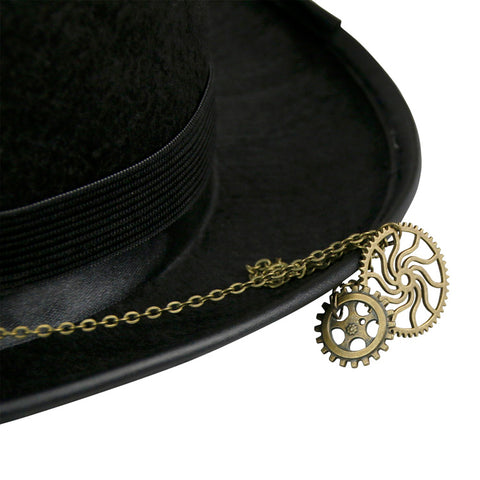 Atomic Steampunk Gear and Goggles Top Hat