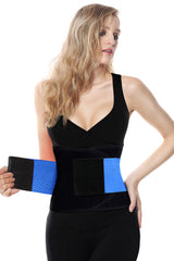 Blue Workout Waist Trainer Belt