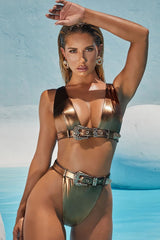 Atomic Hidden Treasure Belted Bikini Set