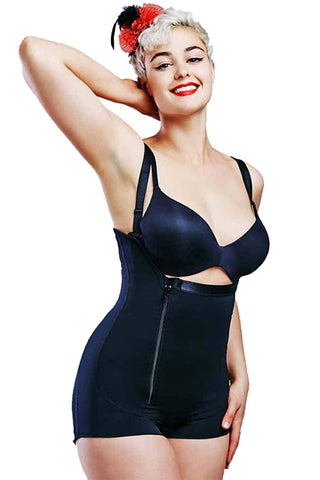 Plus Size Zipper Front Underbust Girdle
