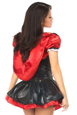 Red Hooded Corset Dress Costume