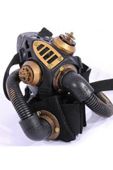 Brown Steampunk Gas Mask with Armband