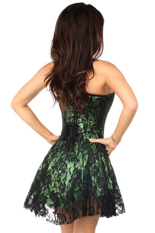 Premium Green Lace Lavish Corset Dress
