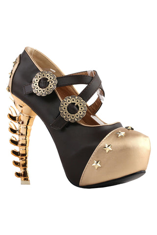 Star Studded Bone High Heels
