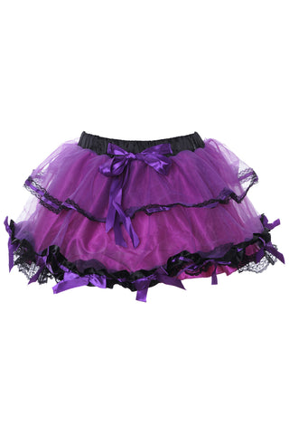 Atomic Two Tiered Mesh Bowed Petticoat