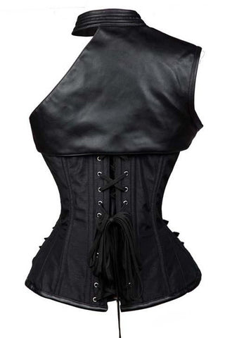 Black Steampunk Gothic Corset Skirt Set