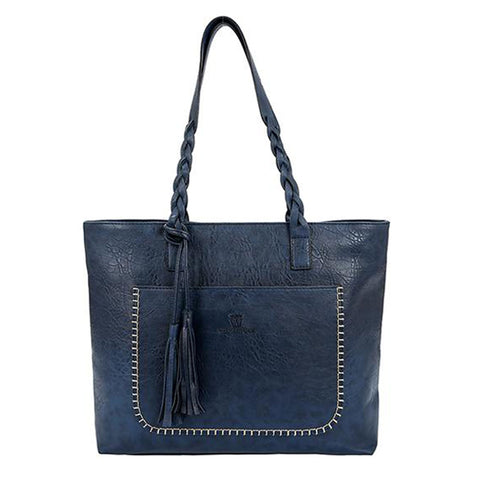Tasseled Tote Messenger Bag