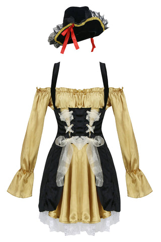 Atomic Gold Pirate Captain Costume