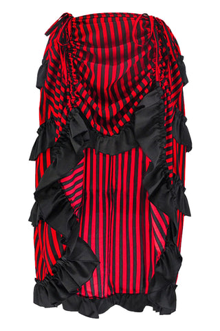 Striped Victorian Gothic Ruffle Skirt