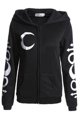 Black Wicked Moon Hoodie