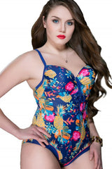 Tropical Plus Size One Piece Swimwear