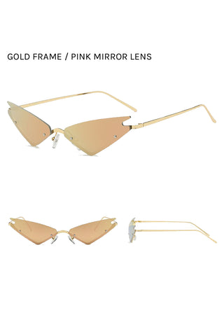Triangle Cat Eye Sunglasses