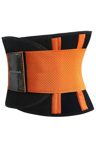 Orange Neoprene Waist Trainer Belt