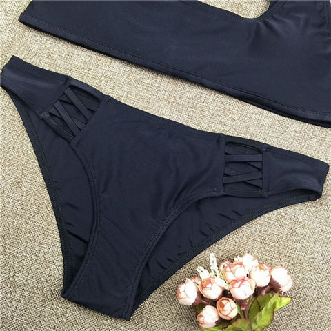 Black Basic Sporty Bikini Set