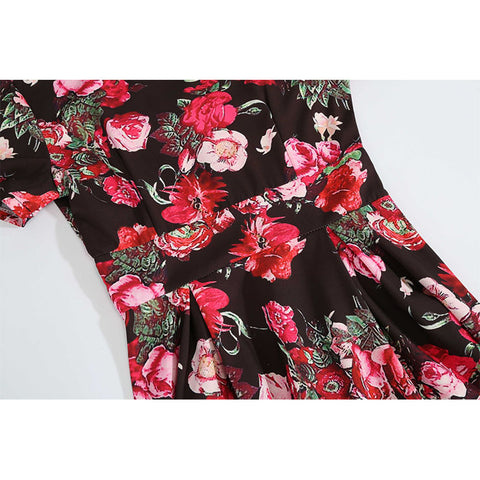 Floral Passion Vintage Swing Dress