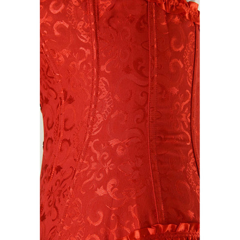 Atomic Red Vintage Embroidered Corset